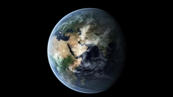 Blender3D-Erde